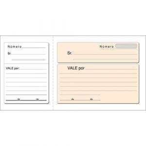 PAQ/10 TALONARIOS DE VALE CON I.G.I.C. 21X10,5CM LOAN