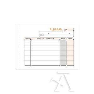 Paq/10 talonarios de albaranes 1/8 natural duplicado autocopia