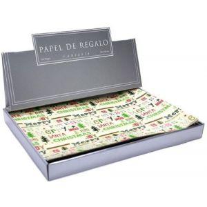 C/100 PLIEGOS PAPEL REGALO SURTIDO NAVIDAD 70X100CM