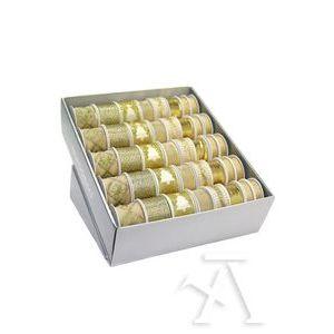 EXP 40 ROLLOS CINTAS NAVIDAD CHRISTMAS GOLD