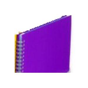 Carpeta 50 fundas a4 espiral c/goma violeta polipropileno fashion