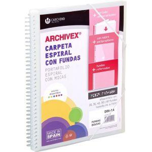 CARPETA 30 FUNDAS CANGURO A4 ARCHIVEX STAR TRANSLUCIDO
