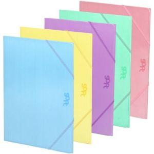 Exp 30 carpeta fº cartón gomas y solapas colores surtidos soft