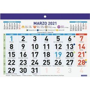 FALDILLA F92 2021 CASTELLANO 210X150MM NUMEROS GRANDES