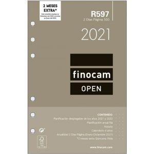 RECAMBIO AGENDA 2021 R597 2 DIA PAGINA 11,7X18,1CM