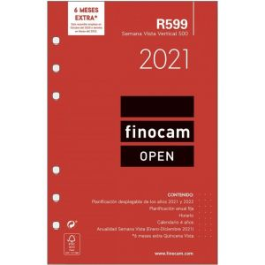 RECAMBIO AGENDA 2021 R1099 SEMANA VISTA 15,5X21,5CM