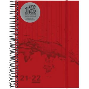 AGENDA ESCOLAR 21/22 ESPIRAL TRAVEL 155X212 18 MESES 2DP