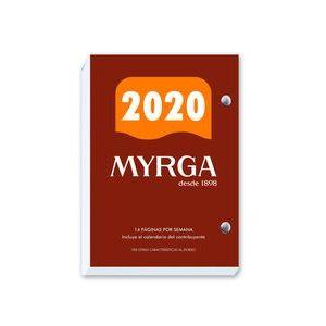 BLOQUE Nº2 AÑO 2021 8,3X12CM 732 PAGINAS MYRGA