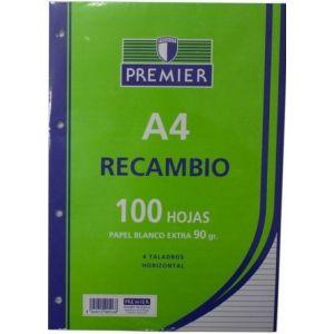 PAQUETE A4 100H 90G CUADRICULA 4X4 PREMIER