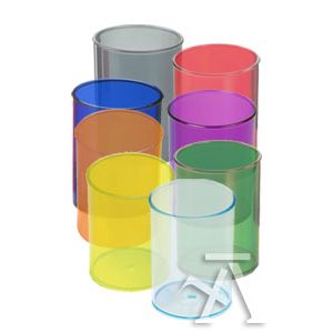 C/10 cubiletes de plástico translúcido colores surtidos Faibo