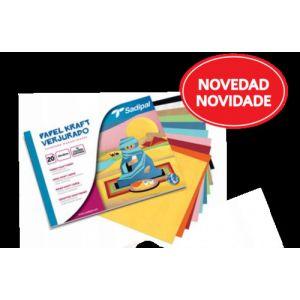 BLOC MANUALIDADES 30 PAPEL KRAFT SURTIDO SADIPAL 32X24CM