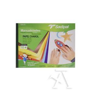 Bloc manualidades 10 hojas papel charol Sadipal 32x24cm