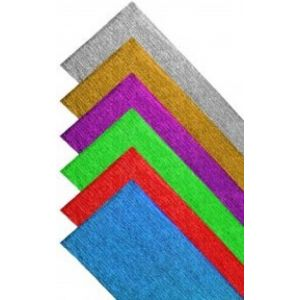 Rollo continuo papel crespon aluminio 60g 50x150cm azul fuerte