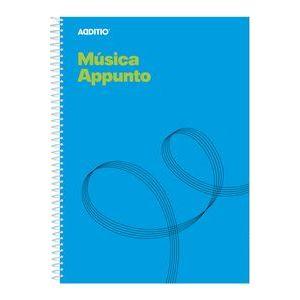 Cuaderno espiral a4 musica appunto 12 pentagramas de 9mm por pag.+ pag. cuadriculada para apuntes
