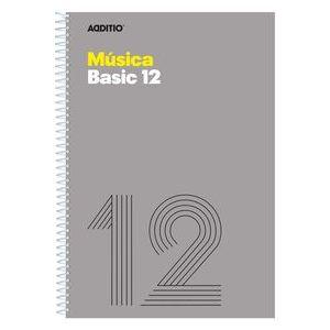 Cuaderno espiral fº musica basic 12 pentagramas de 10 mm por pagina 20 hojas