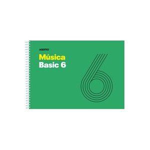 Cuaderno espiral musica basic 6 pentagramas de 9mm por pagina 25 hojas