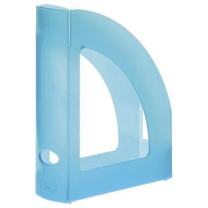 C/6 revisteros plastico color azul mar translucido 250x80x320mm