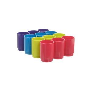 C/12 cubiletes de plastico opaco colores surtidos lume archivo 2000 (3 unidades por color)