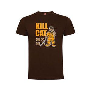 CAMISETA 'KILL CAT' CHOCOLATE HOME S