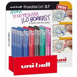 Exp 36 boligrafo borrable uni-ball erasabel gel 0,7 colores surtidos