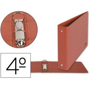 C/10 carpetas 4º apaisado 2 anillas 40mm carton cuero