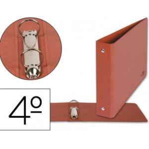 C/10 carpetas 4º 2 anillas 40mm carton cuero