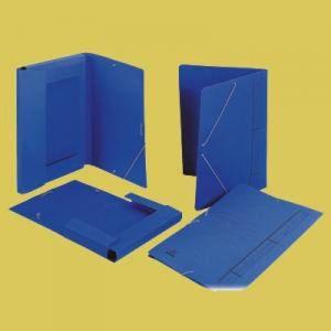 Carpeta fº gomas bolsa azul mate
