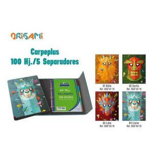 Carpeplus 100 hojas 5 separadores llama
