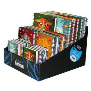Cuaderno origami surtido expositor 10x a5 - 10x a6 - 10x a7