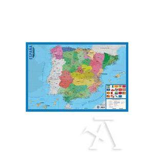 LAMINA DIDACTICA MAPA ESPAÑA PVC 40X59,5CM