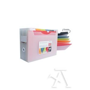 Organizador 10 carpetas dobles desk free vital colors +40 indicicadores adhesivos
