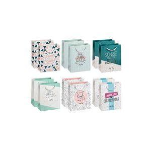 Paq 12 bolsas de regalo 18x26 surtida seis modelos distintos
