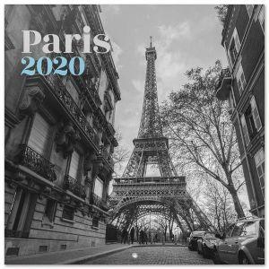 Calendario 2020 30 x 30 paris b/w