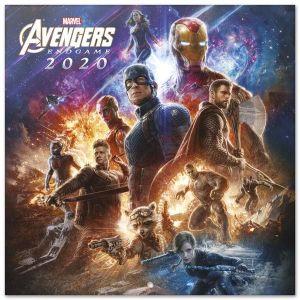 Calendario 2020 30 x 30 marvel avengers