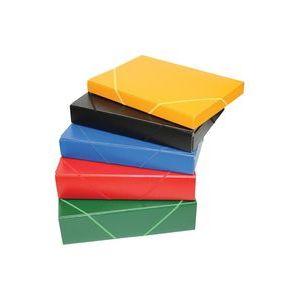 Carpeta proyectos gomas folio carton gofrado lomo 7cm azul serie mallorca