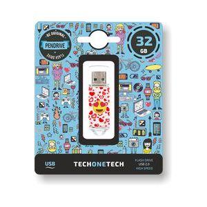 PENDRIVE 32GB USB 2.0 HEART-EYES