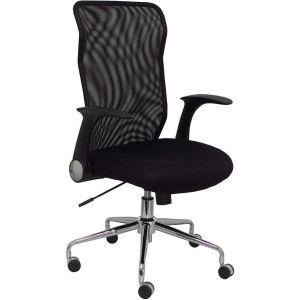 Silla con ruedas minaya respaldo malla negro asiento 3d negro