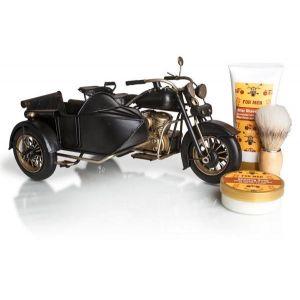 Motocicleta vintage con sidecar vintage