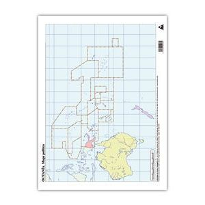 Paq/50 mapas oceania politico mudos