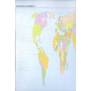 Paq/50 mapas planisferio politico mudos