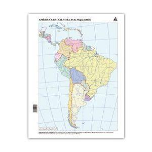 Paq/50 mapas suramerica politico mudos
