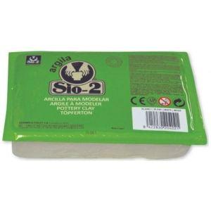 C/8 arcilla sio-2 escolar blanca 1.5kg