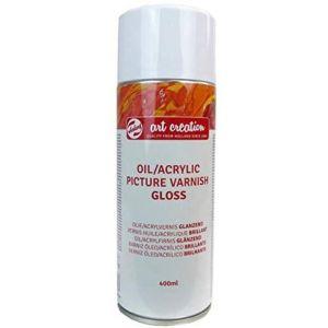 Barniz en spray brillo 400ml para oleo y acrilico Artcreation