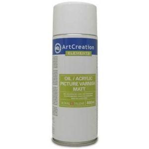 Barniz en spray mate 400ml para oleo y acrilico Artcreation