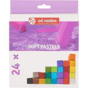 Estuche 24 pastel suave artcreation colores surtidos