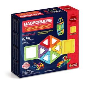 MAGFORMERS BASIC PLUS WINDOW PLUS SET 20 PIEZAS (715001)