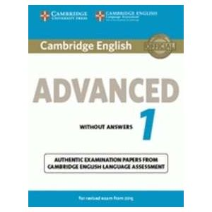 CAMBRIDGE ENGLISH ADVANCED 1 FOR REVISED EXAM FROM 2015 STUDENT´S BOOK WITH ANSW