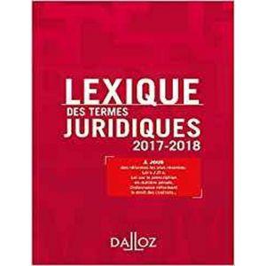 LEXIQUE DES TERMES JURIDIQUES 2015 - 2016