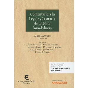 COMENTARIO A LA LEY DE CONTRATOS DE CREDITO INMOBILIARIO