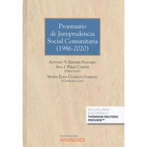 PRONTUARIO DE JURISPRUDENCIA SOCIAL COMUNITARIA